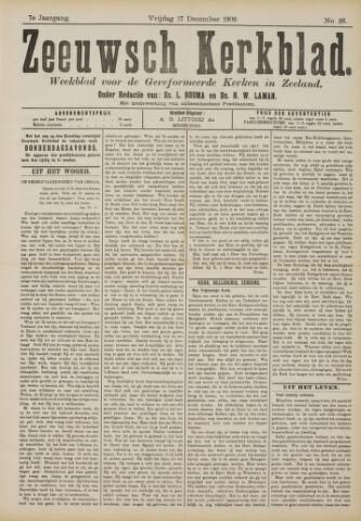 Zeeuwsche kerkbode, weekblad gewijd aan de belangen der gereformeerde kerken/ Zeeuwsch kerkblad 1909-12-17