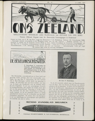 Ons Zeeland / Zeeuwsche editie 1927-04-16