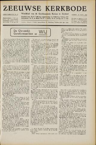 Zeeuwsche kerkbode, weekblad gewijd aan de belangen der gereformeerde kerken/ Zeeuwsch kerkblad 1950-09-22