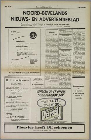 Noord-Bevelands Nieuws- en advertentieblad 1962-01-20
