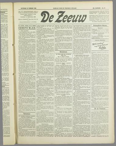 De Zeeuw. Christelijk-historisch nieuwsblad voor Zeeland 1934-02-10