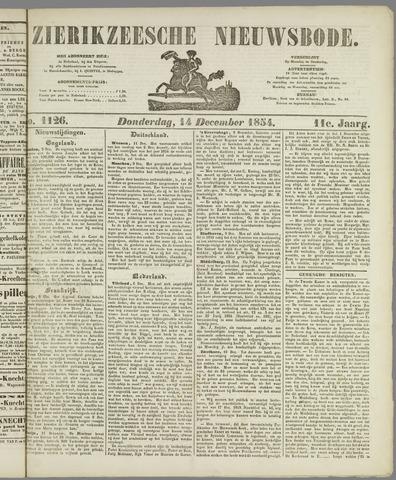 Zierikzeesche Nieuwsbode 1854-12-14