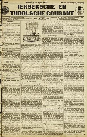Ierseksche en Thoolsche Courant 1922-04-15