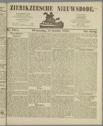 Zierikzeesche Nieuwsbode 1855-10-31