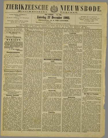 Zierikzeesche Nieuwsbode 1902-12-27