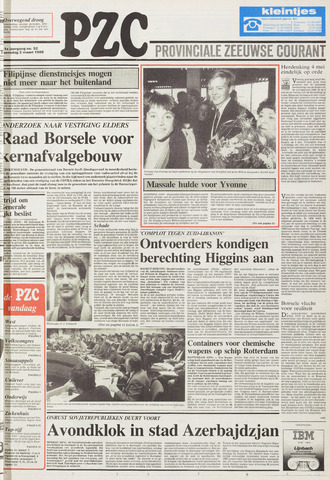 Provinciale Zeeuwse Courant 1988-03-02