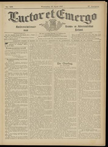 Luctor et Emergo. Antirevolutionair nieuws- en advertentieblad voor Zeeland / Zeeuwsch-Vlaanderen. Orgaan ter verspreiding van de christelijke beginselen in Zeeuwsch-Vlaanderen 1915-04-28