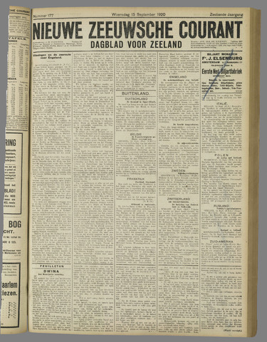 Nieuwe Zeeuwsche Courant 1920-09-15