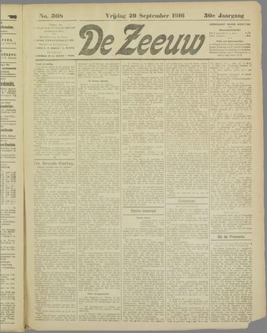 De Zeeuw. Christelijk-historisch nieuwsblad voor Zeeland 1916-09-29