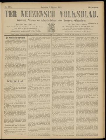 Ter Neuzensch Volksblad. Vrijzinnig nieuws- en advertentieblad voor Zeeuwsch- Vlaanderen / Zeeuwsch Nieuwsblad. Nieuws- en advertentieblad voor Zeeland 1912-10-19