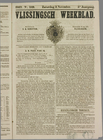 Vlissings Weekblad 1867-11-02