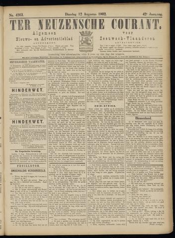 Ter Neuzensche Courant. Algemeen Nieuws- en Advertentieblad voor Zeeuwsch-Vlaanderen / Neuzensche Courant ... (idem) / (Algemeen) nieuws en advertentieblad voor Zeeuwsch-Vlaanderen 1902-08-12