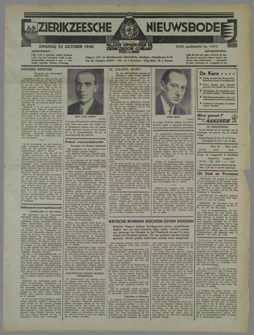 Zierikzeesche Nieuwsbode 1940-10-22