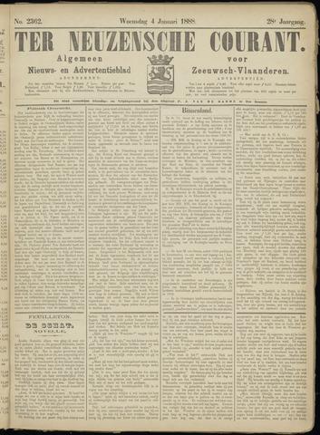 Ter Neuzensche Courant. Algemeen Nieuws- en Advertentieblad voor Zeeuwsch-Vlaanderen / Neuzensche Courant ... (idem) / (Algemeen) nieuws en advertentieblad voor Zeeuwsch-Vlaanderen 1888-01-04