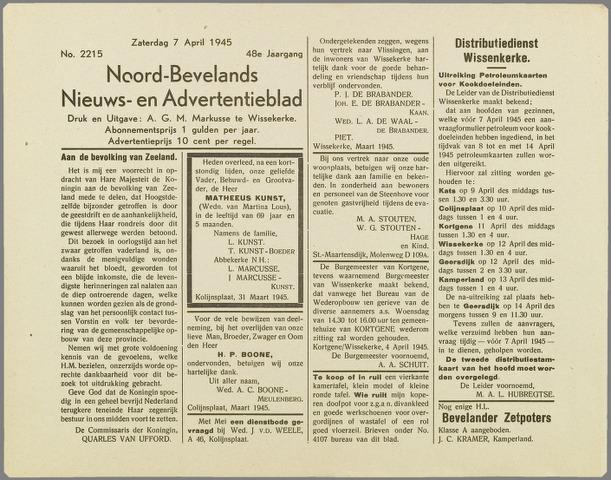 Noord-Bevelands Nieuws- en advertentieblad 1945-04-07