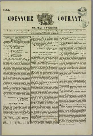 Goessche Courant 1852-11-01