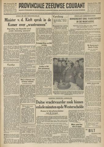 Provinciale Zeeuwse Courant 1952-11-29