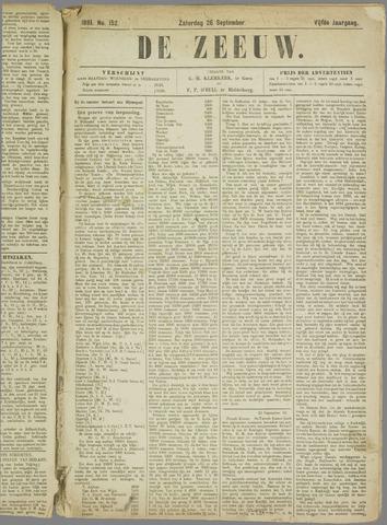 De Zeeuw. Christelijk-historisch nieuwsblad voor Zeeland 1891-09-26