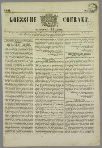 Goessche Courant 1851-04-24