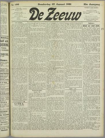 De Zeeuw. Christelijk-historisch nieuwsblad voor Zeeland 1921-01-27
