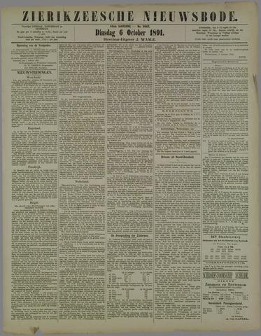 Zierikzeesche Nieuwsbode 1891-10-06