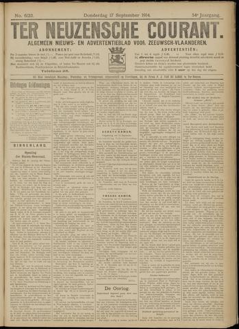 Ter Neuzensche Courant. Algemeen Nieuws- en Advertentieblad voor Zeeuwsch-Vlaanderen / Neuzensche Courant ... (idem) / (Algemeen) nieuws en advertentieblad voor Zeeuwsch-Vlaanderen 1914-09-17