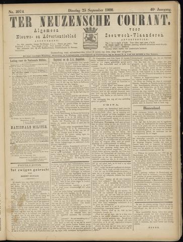 Ter Neuzensche Courant. Algemeen Nieuws- en Advertentieblad voor Zeeuwsch-Vlaanderen / Neuzensche Courant ... (idem) / (Algemeen) nieuws en advertentieblad voor Zeeuwsch-Vlaanderen 1900-09-25