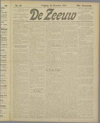 De Zeeuw. Christelijk-historisch nieuwsblad voor Zeeland 1915-10-15