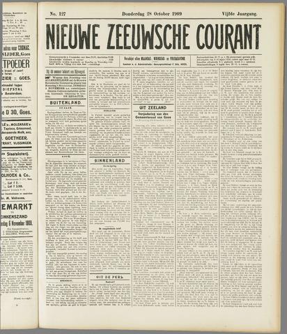 Nieuwe Zeeuwsche Courant 1909-10-28