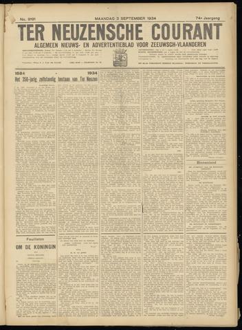 Ter Neuzensche Courant. Algemeen Nieuws- en Advertentieblad voor Zeeuwsch-Vlaanderen / Neuzensche Courant ... (idem) / (Algemeen) nieuws en advertentieblad voor Zeeuwsch-Vlaanderen 1934-09-03
