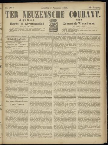 Ter Neuzensche Courant. Algemeen Nieuws- en Advertentieblad voor Zeeuwsch-Vlaanderen / Neuzensche Courant ... (idem) / (Algemeen) nieuws en advertentieblad voor Zeeuwsch-Vlaanderen 1894-11-03