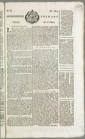 Zierikzeesche Courant 1814-10-18