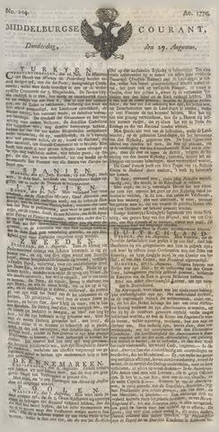 Middelburgsche Courant 1776-08-29