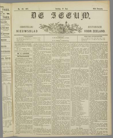 De Zeeuw. Christelijk-historisch nieuwsblad voor Zeeland 1897-06-19