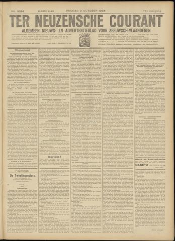 Ter Neuzensche Courant. Algemeen Nieuws- en Advertentieblad voor Zeeuwsch-Vlaanderen / Neuzensche Courant ... (idem) / (Algemeen) nieuws en advertentieblad voor Zeeuwsch-Vlaanderen 1936-10-09