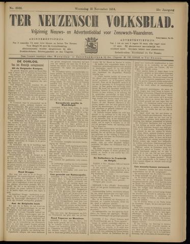 Ter Neuzensch Volksblad. Vrijzinnig nieuws- en advertentieblad voor Zeeuwsch- Vlaanderen / Zeeuwsch Nieuwsblad. Nieuws- en advertentieblad voor Zeeland 1914-11-11