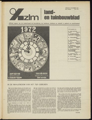 Zeeuwsch landbouwblad ... ZLM land- en tuinbouwblad 1971-12-31