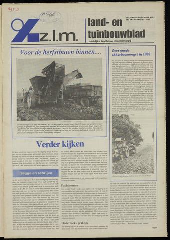 Zeeuwsch landbouwblad ... ZLM land- en tuinbouwblad 1982-11-19