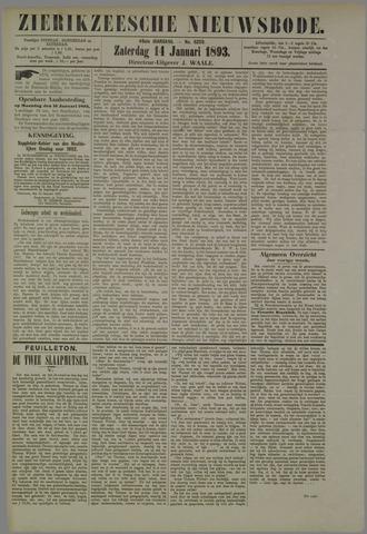 Zierikzeesche Nieuwsbode 1893-01-14