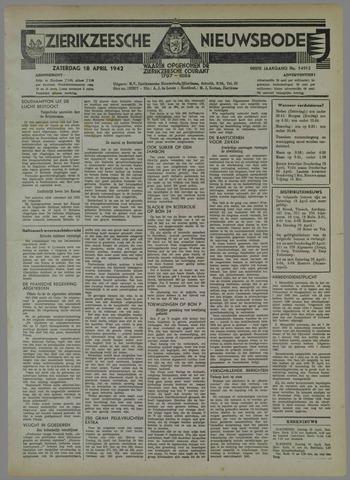 Zierikzeesche Nieuwsbode 1942-04-18