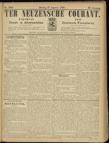 Ter Neuzensche Courant. Algemeen Nieuws- en Advertentieblad voor Zeeuwsch-Vlaanderen / Neuzensche Courant ... (idem) / (Algemeen) nieuws en advertentieblad voor Zeeuwsch-Vlaanderen 1896-08-18