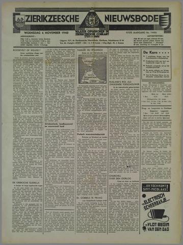 Zierikzeesche Nieuwsbode 1940-11-06