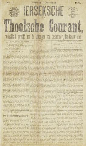 Ierseksche en Thoolsche Courant 1885-11-07