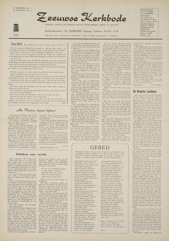 Zeeuwsche kerkbode, weekblad gewijd aan de belangen der gereformeerde kerken/ Zeeuwsch kerkblad 1970-09-17