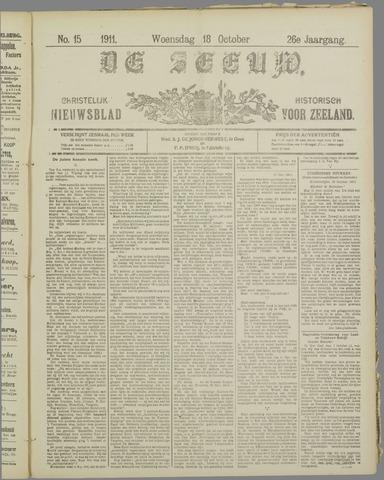 De Zeeuw. Christelijk-historisch nieuwsblad voor Zeeland 1911-10-18