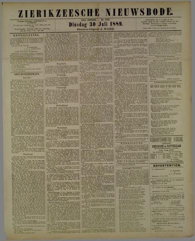 Zierikzeesche Nieuwsbode 1889-07-30