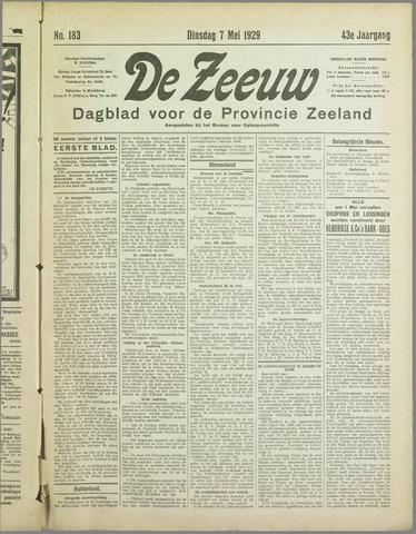 De Zeeuw. Christelijk-historisch nieuwsblad voor Zeeland 1929-05-07