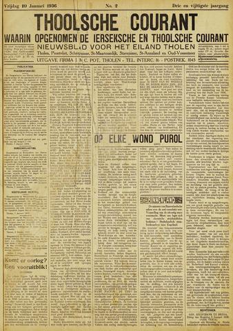 Ierseksche en Thoolsche Courant 1936-01-10
