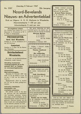 Noord-Bevelands Nieuws- en advertentieblad 1947-02-08