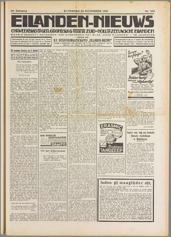 Eilanden-nieuws. Christelijk streekblad op gereformeerde grondslag 1938-11-26